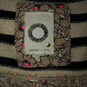 AKEMI + KIN Stripe & Floral Top